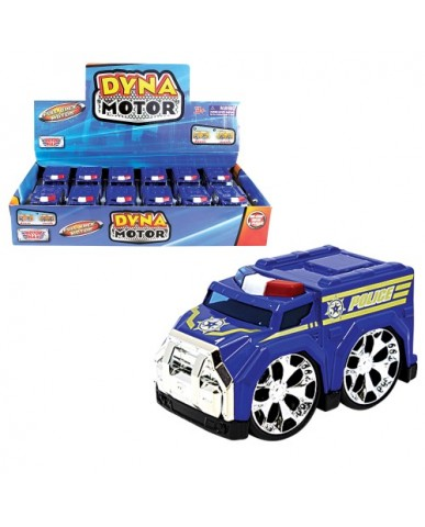 "4"" Dyna Motor Die Cast Police Car"