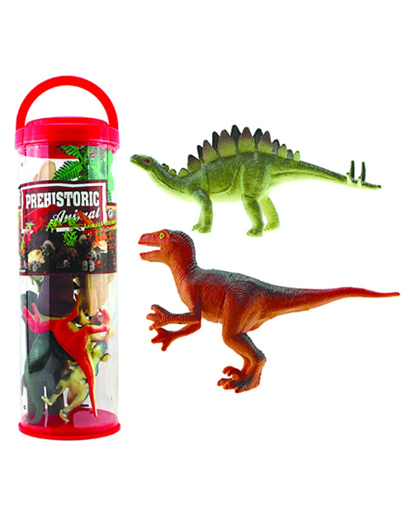 Dino Play Set in Big Tube