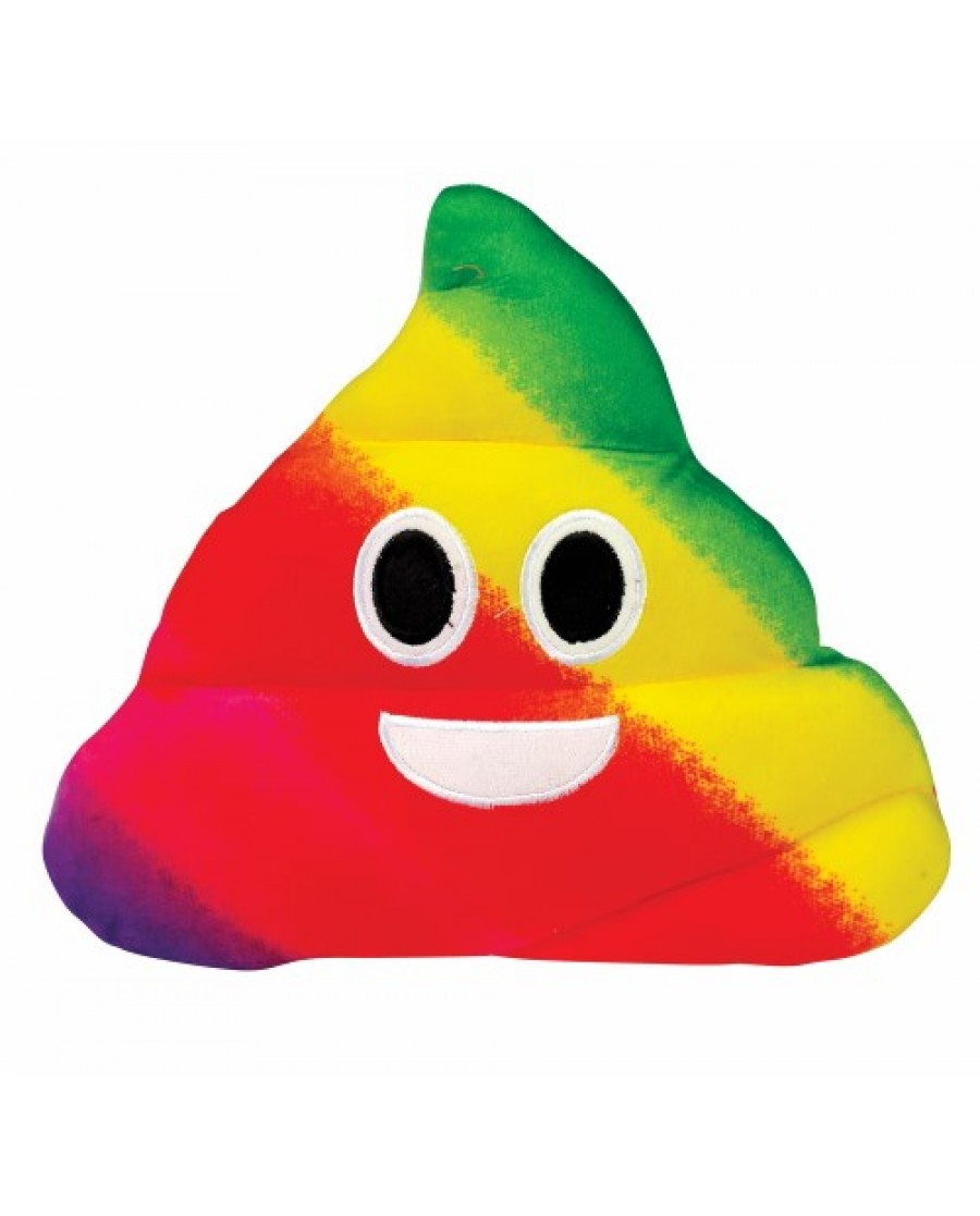 "10"" Rainbow Poop Pillow"