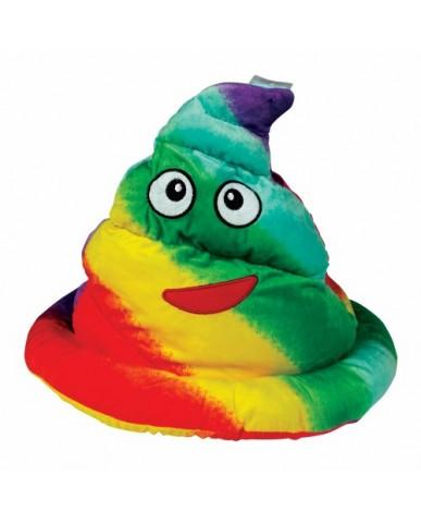"""13"""" Rainbow Poop Hat"""