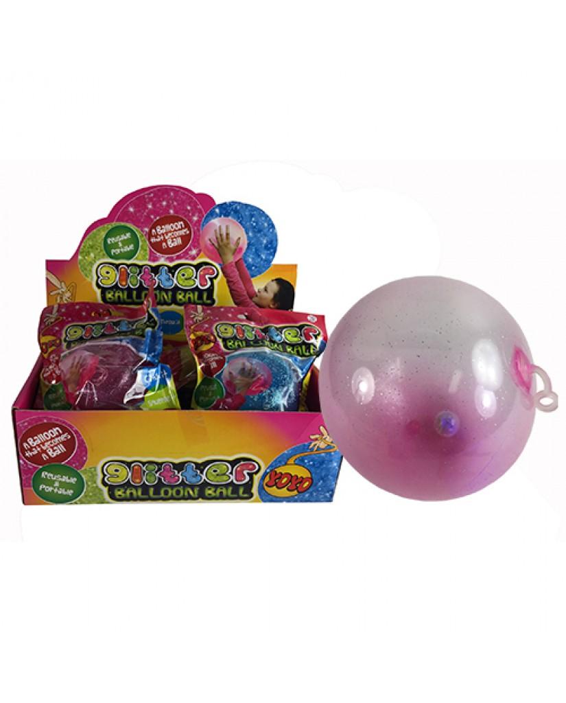 Light Up Glitter Balloon Ball