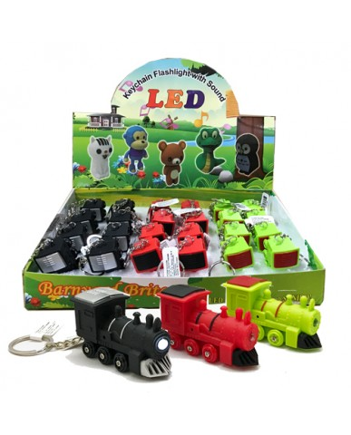 "2"" Light Up Train Key Chain with Sound"