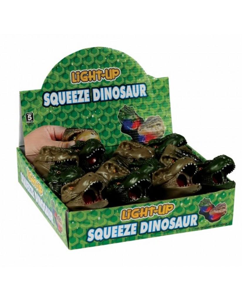 "3"" Light Up Squishy Dino"
