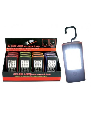32 LED Lamp with Magnet & Hook