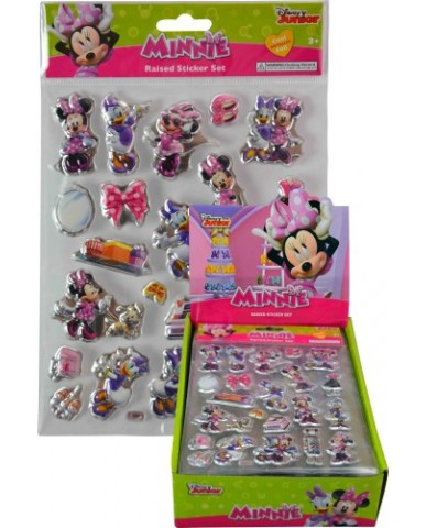 Minnie Mouse Foil Puffy Stickers