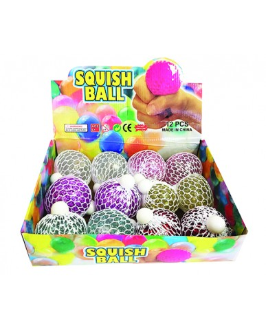 "3"" Glitter Light Up Mesh Ball"