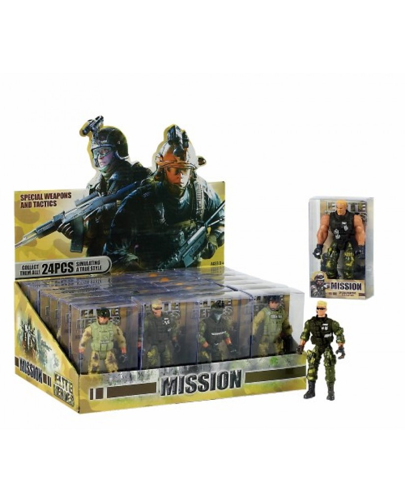 "4"" Soldier Hero Figurine Play Set"