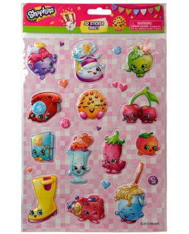 Shopkins Puffy Stickers - Large