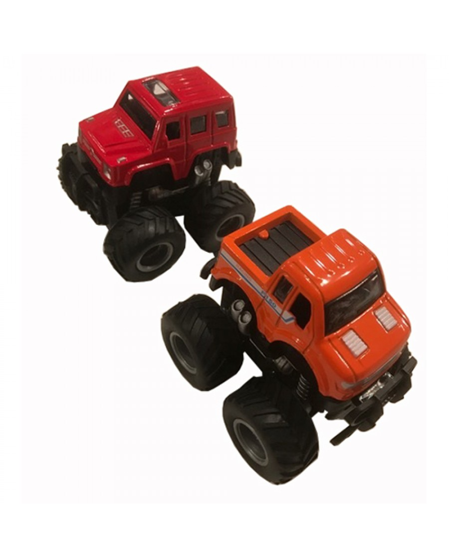"""3.5"""" Die Cast Mini Monster Friction SUV"""