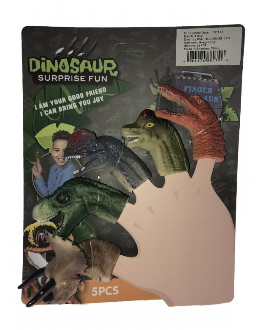 5 Asst. Dino Finger Puppets