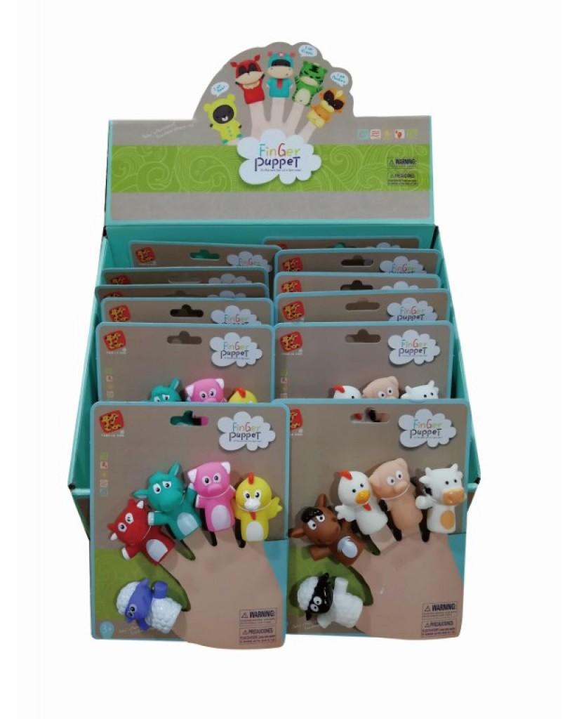 5 Asst. Farm Animal Finger Puppets