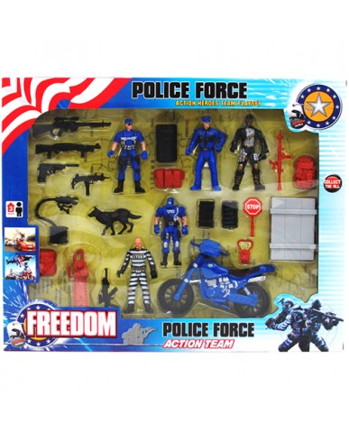 24 pc. Police Force Play Set