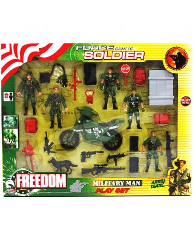 24 pc. Army Force Play Set