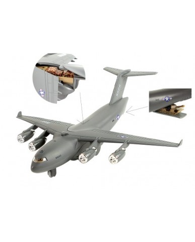 "8.5"" Die Cast Light & Sound Military Carrier Plane"