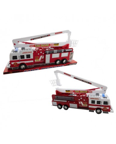 "17"" Friction Powered Hook & Ladder Fire Engine"