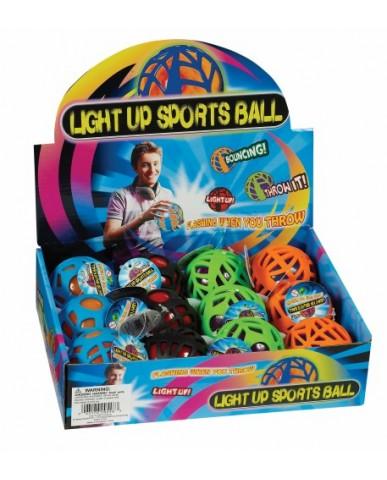 "2.5"" Light-Up Spiderweb Sports Ball"