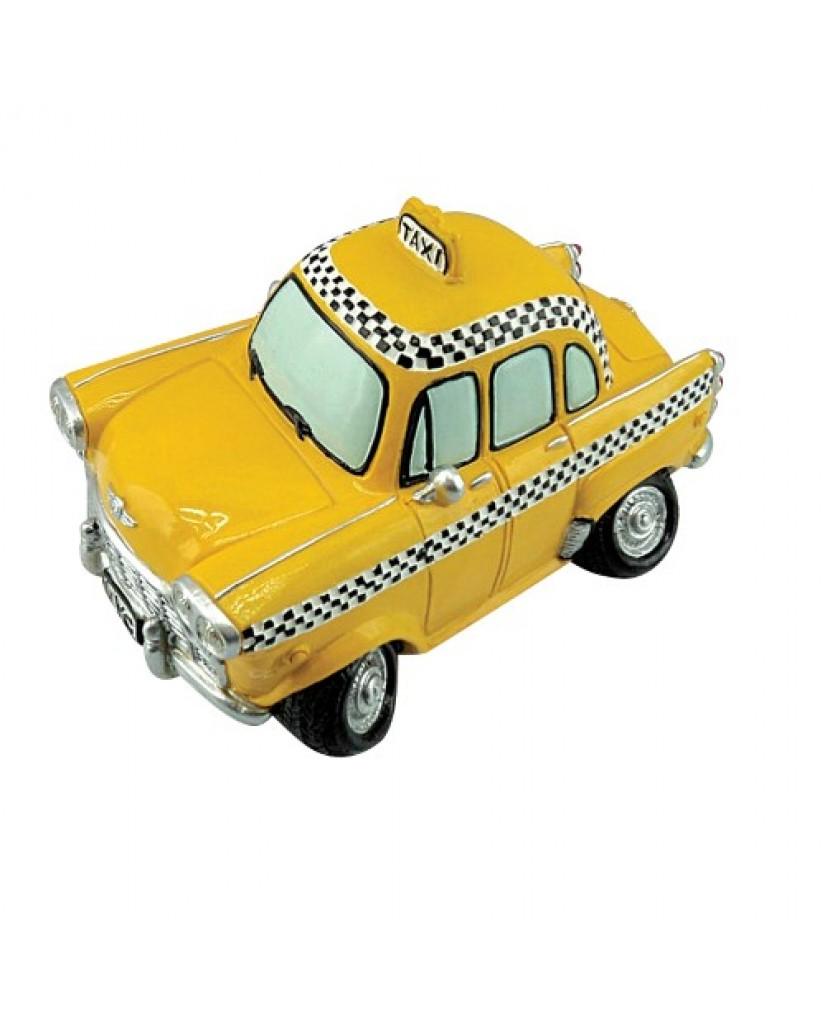 """6.5"""" New York Checker Cab Ceramic Bank"""