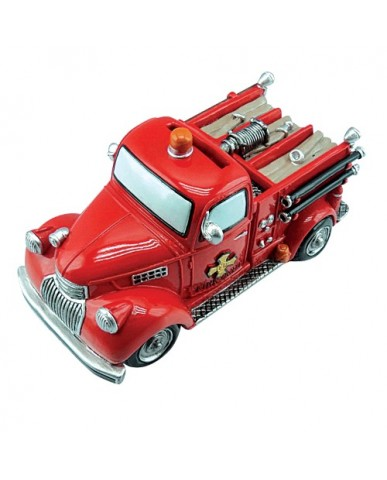"7"" Classic Fire Truck Ceramic Bank"