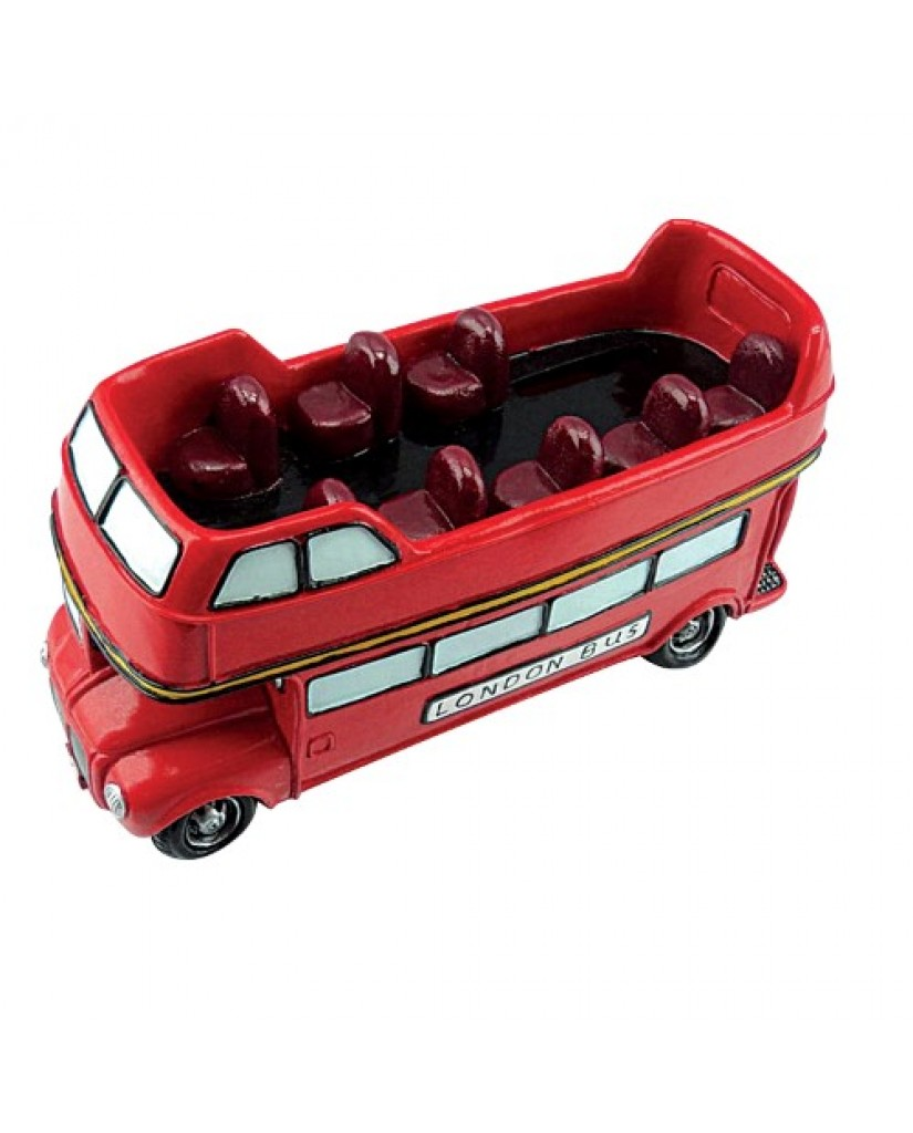 "6.75"" Double Decker Bus Ceramic Bank"