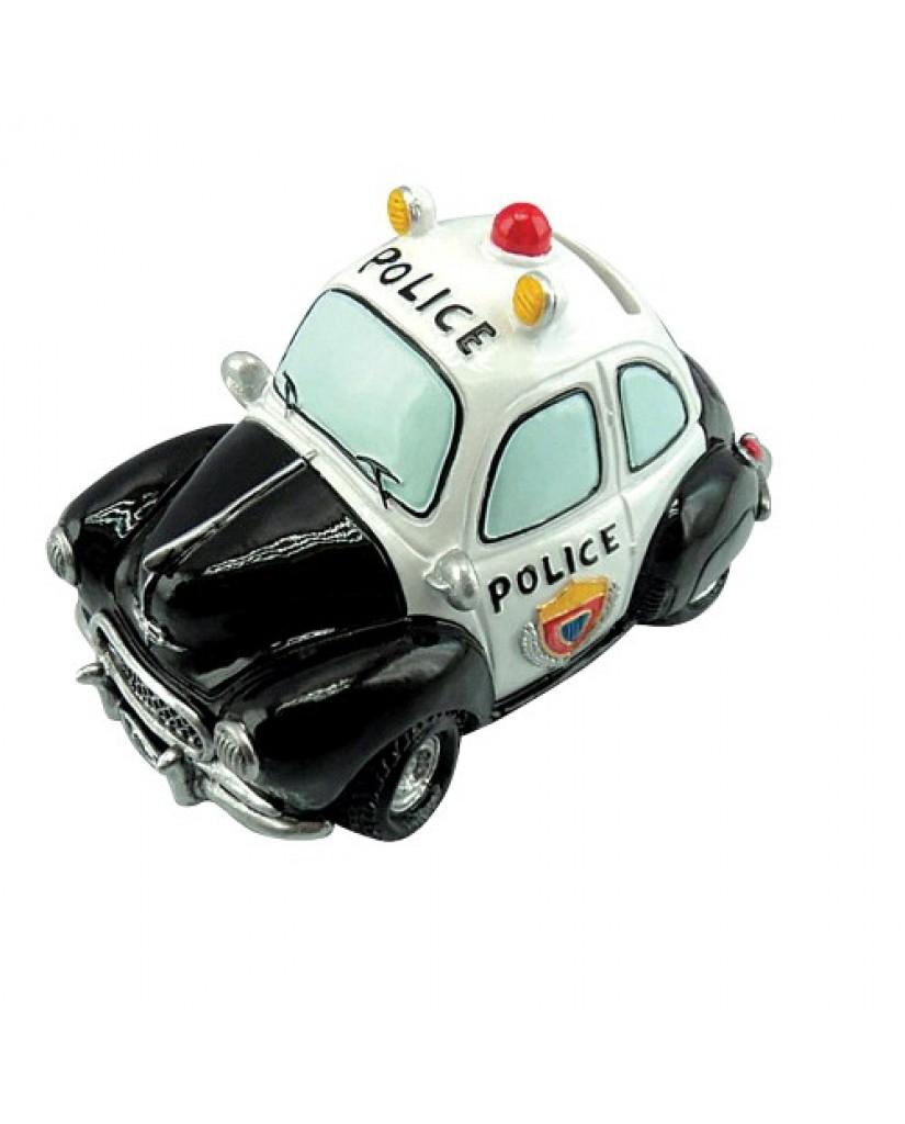 """6.25"""" Police Car Ceramic Bank"""