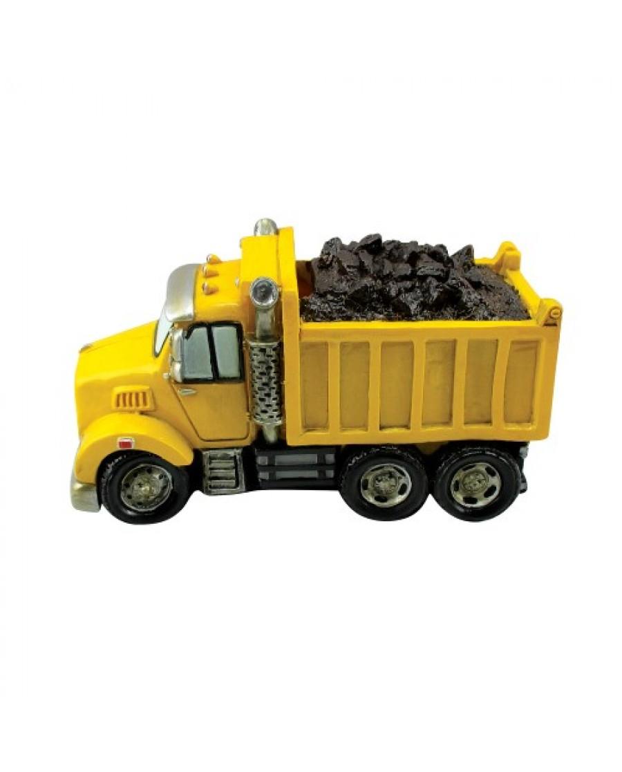 """6.25"""" Sand Gravel Truck Ceramic Bank"""