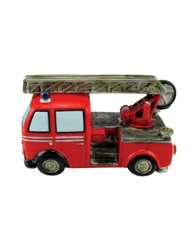 """6.75"""" Fire Engine with Extension Ladder Ceramic bank"""