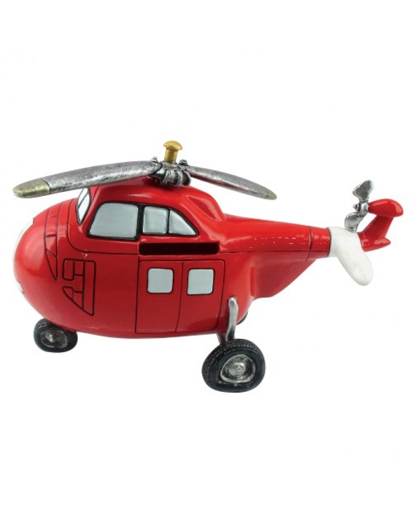 "8"" Helicopter Ceramic Bank"