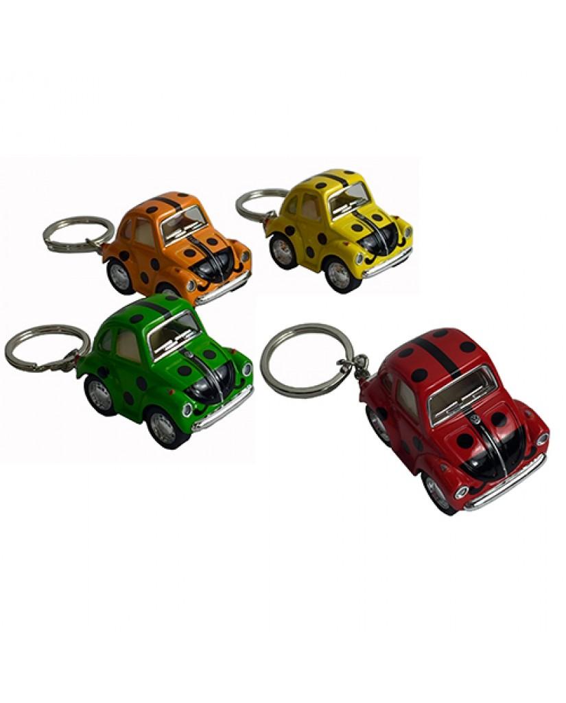 """2"""" Die Cast Funny Mini Beetle Ladybug Key Chain"""