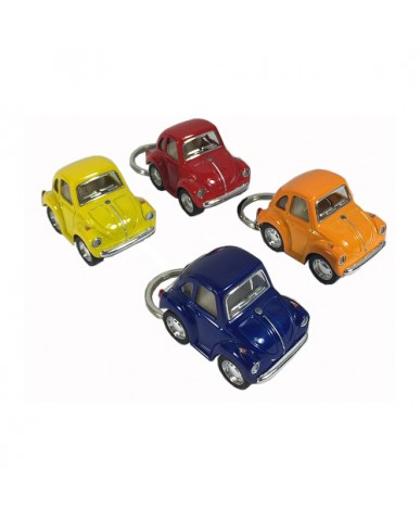 "2"" Die Cast Funny Mini Beetle Key Chain"