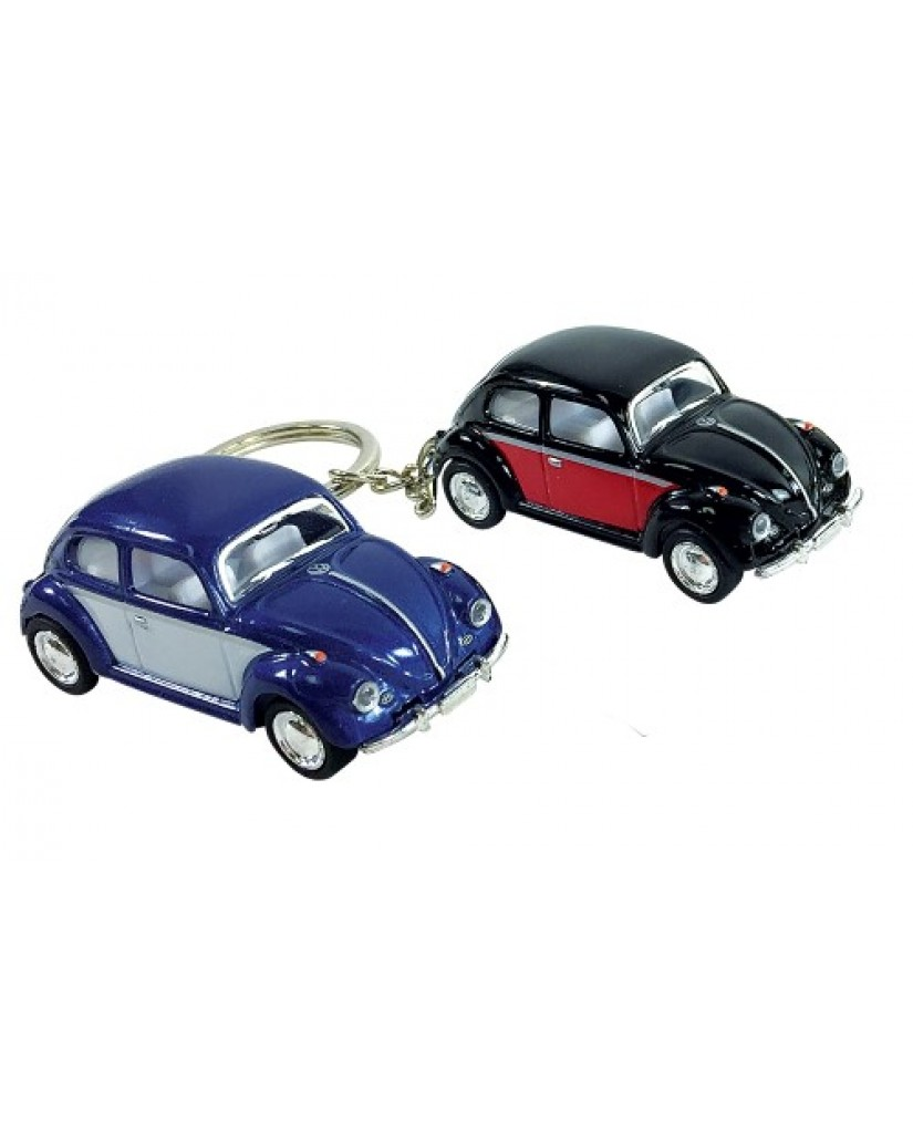 """2.5"""" Die Cast Two-Toned Classic VW Beetle Key Chain"""