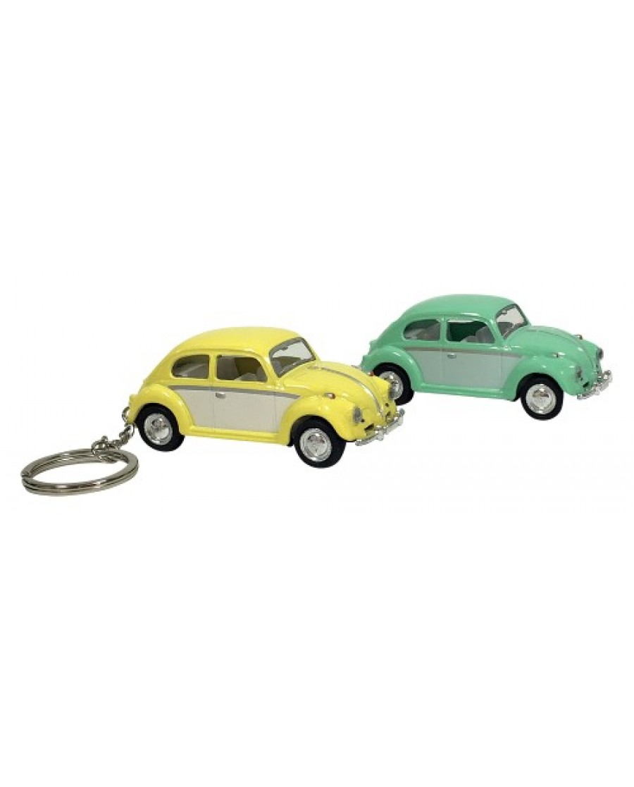 "2.5"" Die Cast Pastel Two-Tone Classic VW Beetle Key Chain"