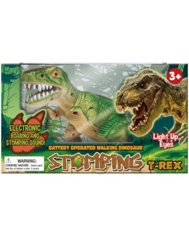 "11"" Light & Sound Stomping T-Rex"
