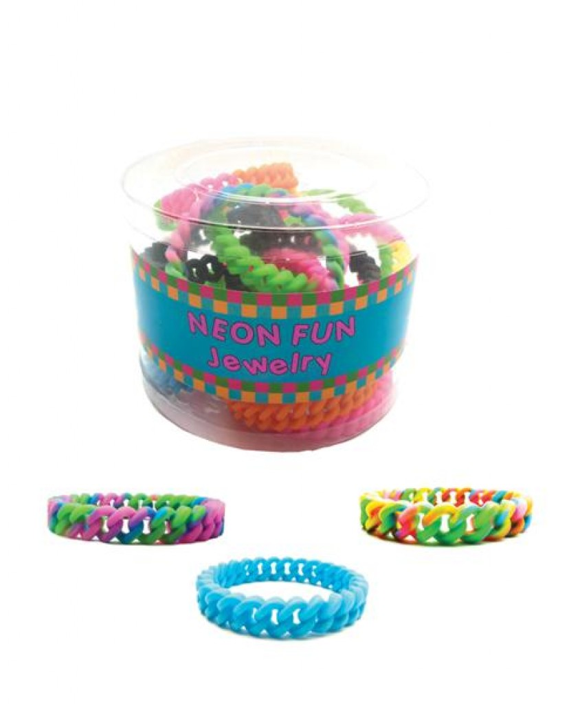 """1/2"""" Silicone Cable Link Bracelets"""