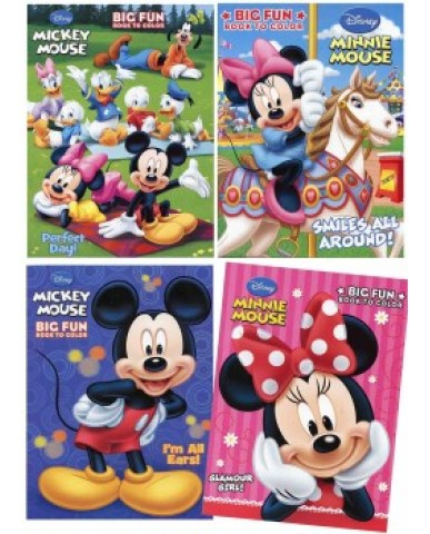 Mickey & Minnie Coloring Book