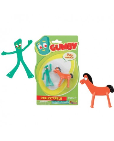 "3"" 2-PK Mini Gumby & Pokey Bendables"