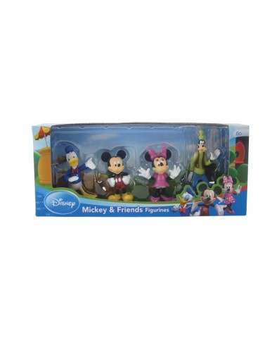 4-pk Disney Figurines: Mickey & Friends