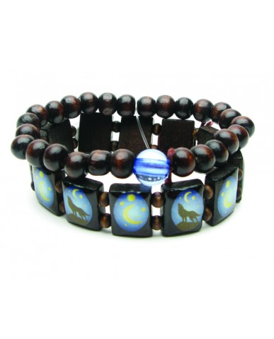 Wolf/Moon 2pc Bracelet Set