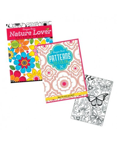 Patterns & Florals Adult Coloring Books