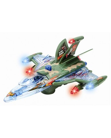 "11.5"" Bump N' Go Military Jet Light & Sound Action"