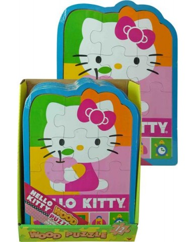 Hello Kitty Shaped Wood Puzzle
