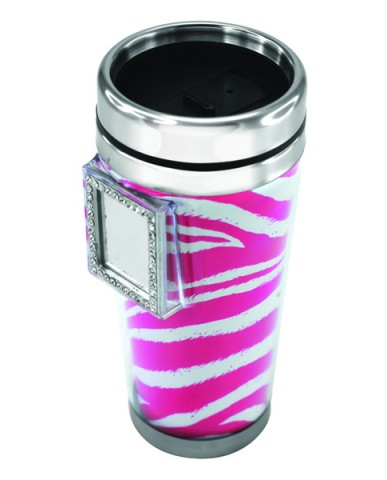 18oz Zebra Diva Mug W/Mirror (2 Asst)