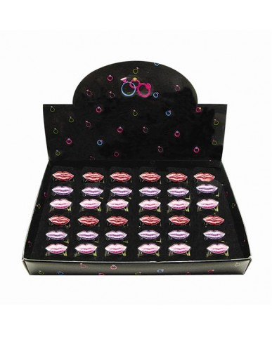 Glitter Lips Rings