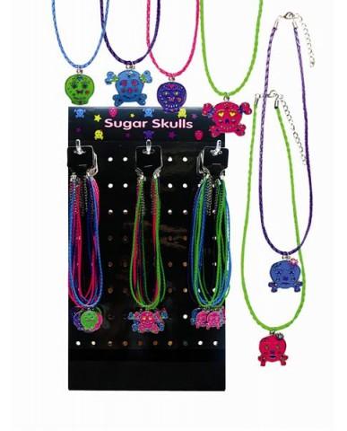 """36pc 18"""" Sugar Skull Necklace Asst."""