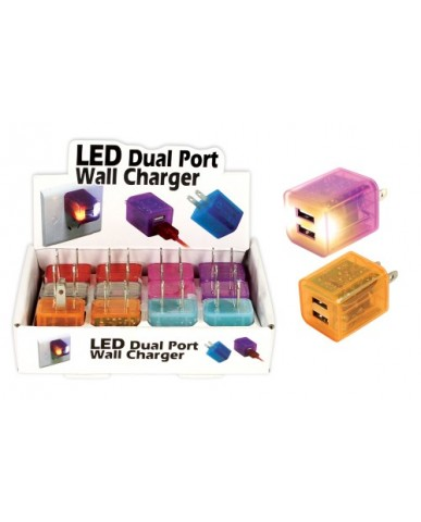 LED Dual Wall Charger