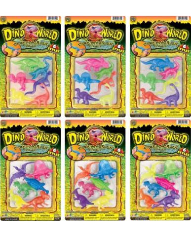 6 pc Stretchable Dinos