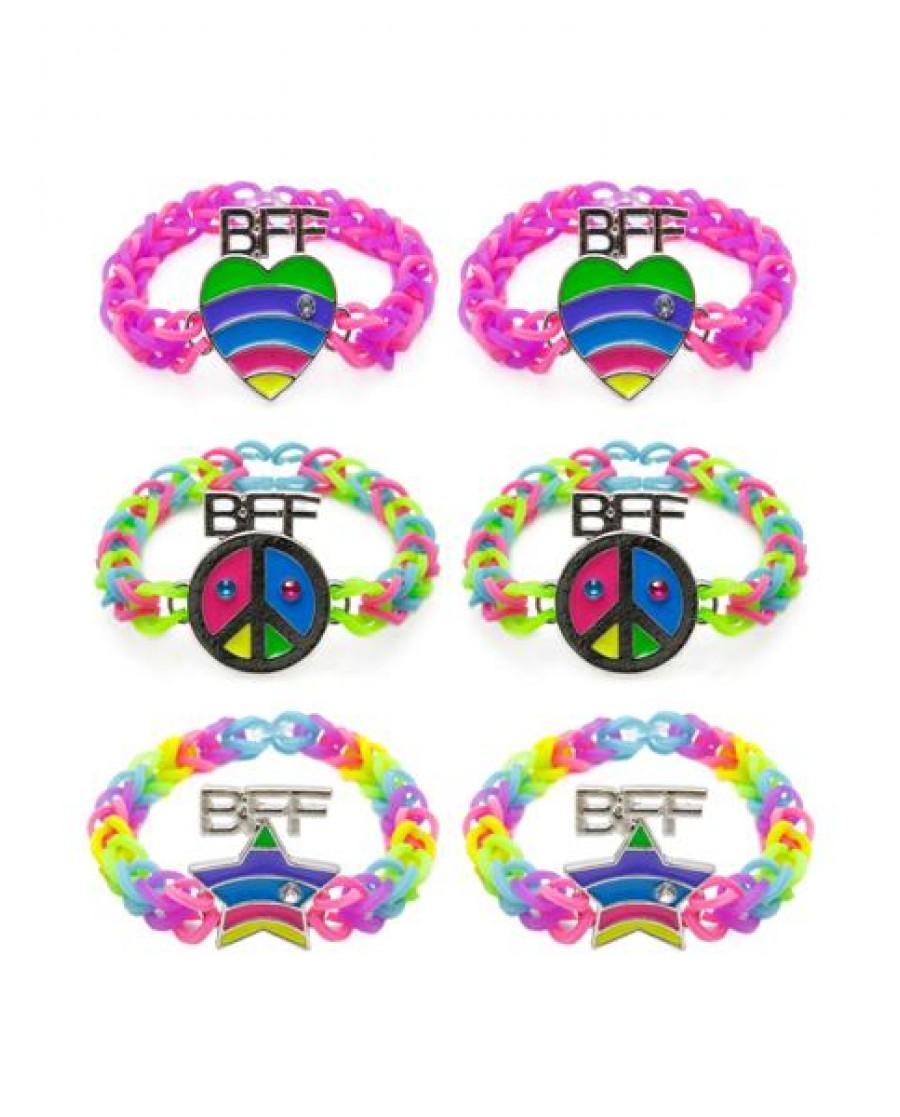 2-pk Rainbow Weevz BFF Bracelets