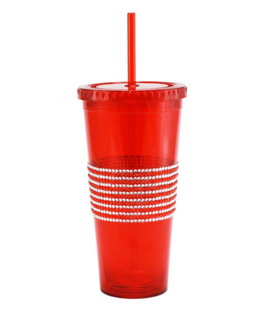 24oz 2-Tone Bling Band Drinking Tumblers