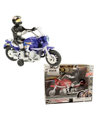 "8"" Friction Classic Motorcycle with Lights & Sounds"