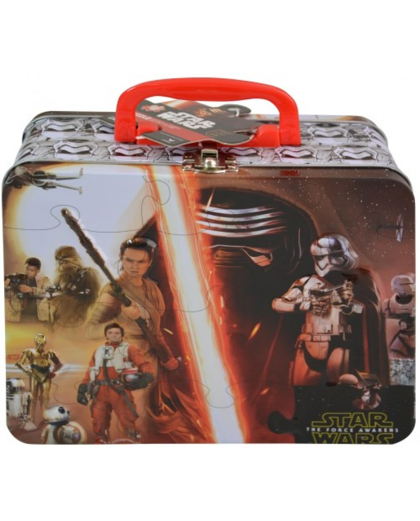 Star Wars Ep. 7 Large Tin Box with Puzzle Inside