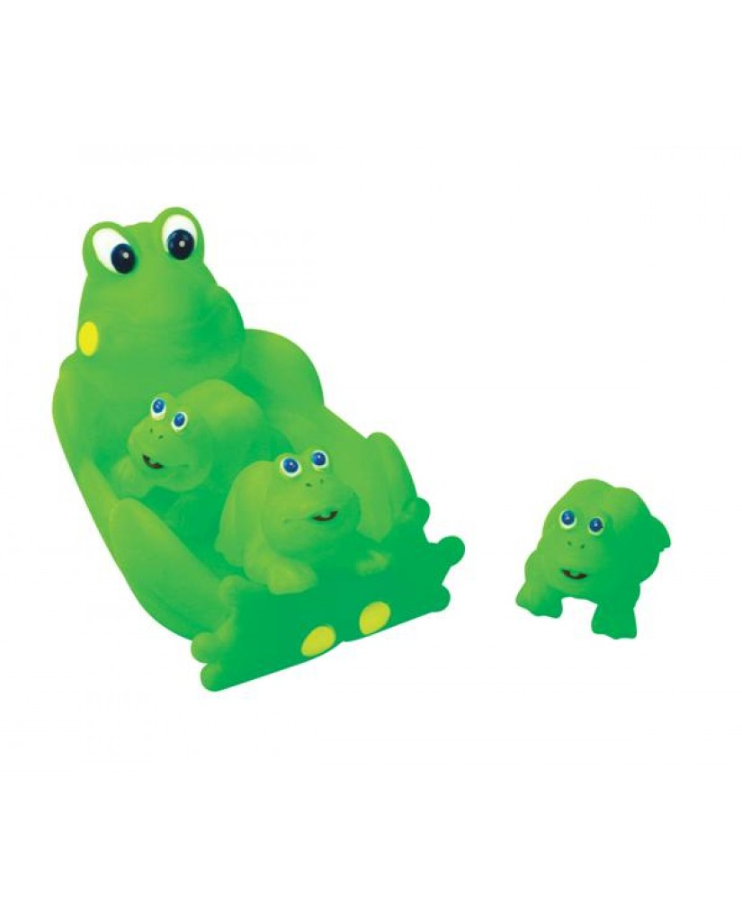 "8"" Non-phthalate Frog Family Bath Toys"
